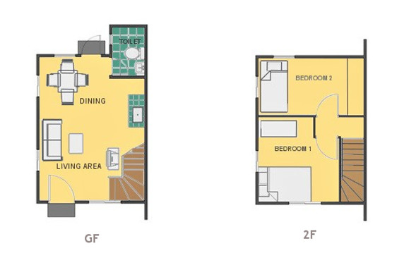 Mikaela Floor Plan House and Lot in Mendez