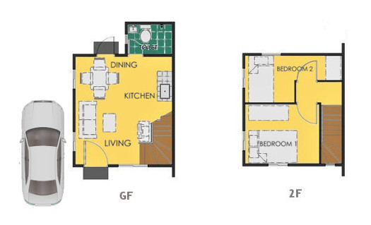 Reva Floor Plan House and Lot in Mendez