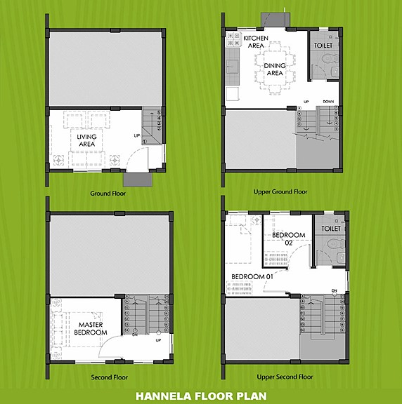 Hannela Floor Plan House and Lot in Mendez