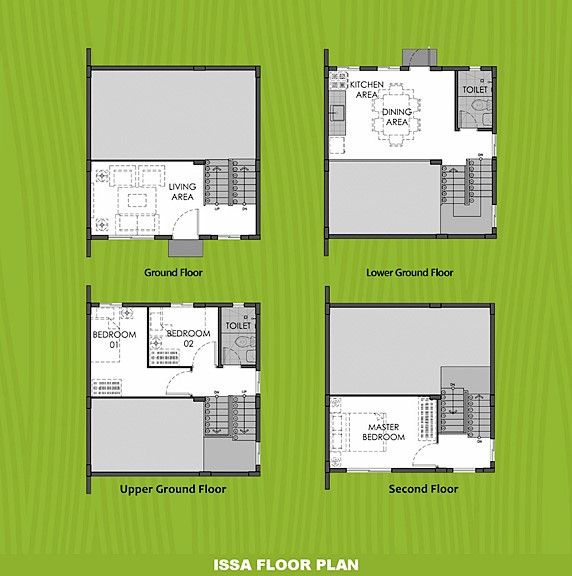 Issa Floor Plan House and Lot in Mendez