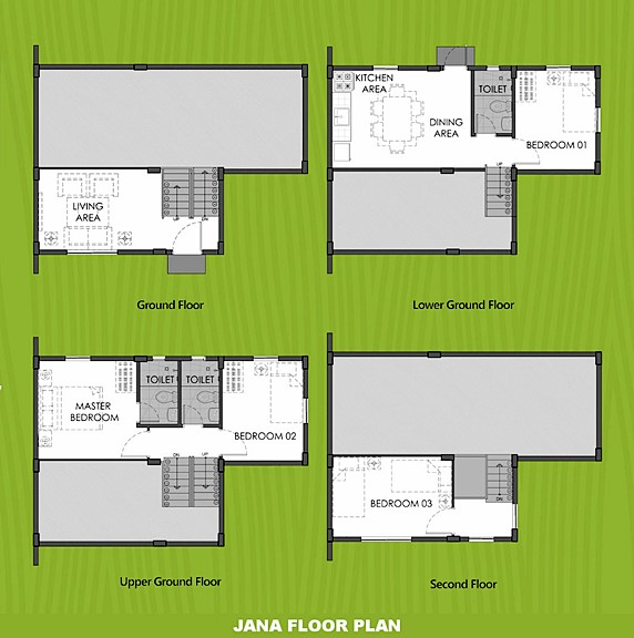 Janna Floor Plan House and Lot in Mendez