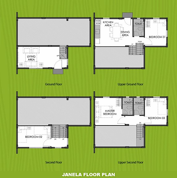 Janela Floor Plan House and Lot in Mendez