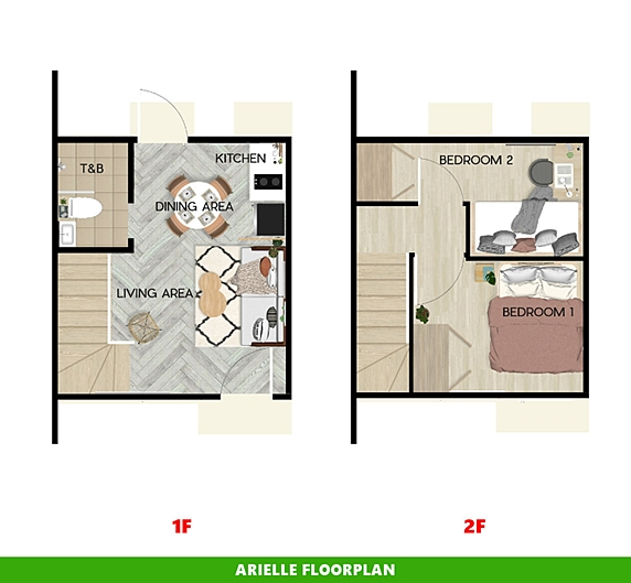 Arielle Floor Plan House and Lot in Mendez