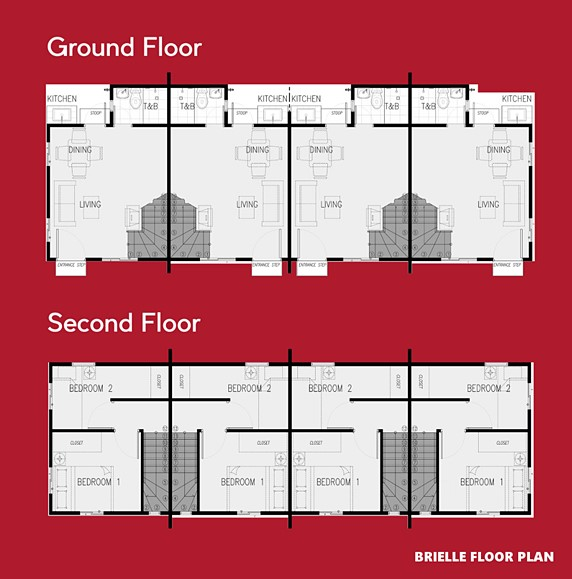 Brielle Floor Plan House and Lot in Mendez