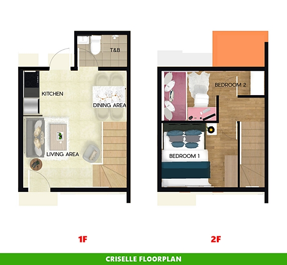 Criselle Floor Plan House and Lot in Mendez