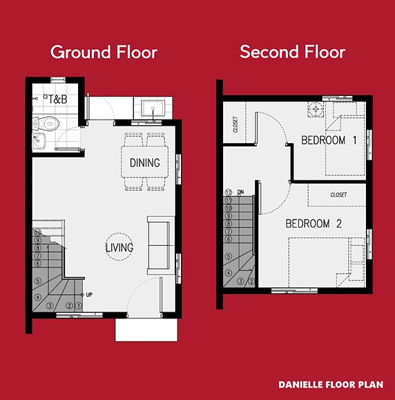 Danielle Floor Plan House and Lot in Mendez