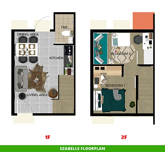 Ezabelle Floor Plan House and Lot in Mendez