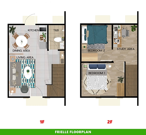 Frielle Floor Plan House and Lot in Mendez